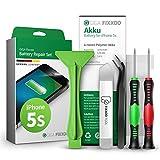 GIGA Fixxoo Akku Reparatur-Set für iPhone 5s | Kapazität wie Original-Akku | Ersatz-Akku mit Werkzeug-Kit für einfachen Austausch mit Anleitung bei defekter Batterie
