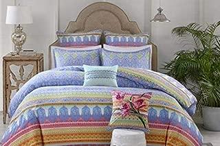 Echo Design Sofia Duvet Cover King Size - Indigo , Paisley Duvet Cover Set – 3 Piece – Cotton Light Weight Bed Comforter Covers