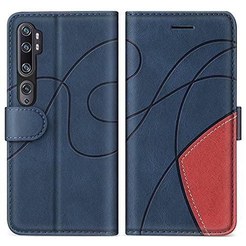 SUMIXON Hülle für Xiaomi MI Note 10 / MI CC9 Pro/MI Note 10 Pro, PU Leder Brieftasche Schutzhülle für Xiaomi MI Note 10, Kratzfestes Handyhülle mit Kartenfächern & Standfunktion, Blau
