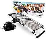 Mandoline Slicer - Stainless Steel Food Slicer With Adjustable Julienne Blade System - Best Fruit, Potato & Vegetable Cutter