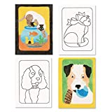 Sand Art Boards 5'x7' - Dogs & Cats