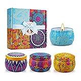 HYMD Velas aromáticas Fragancia de Las Velas perfumadas para Las Mujeres Velas Fragancia para el baño de Yoga Día de San Valentín Regalos de cumpleaños (Color : 4 pcs/Set, Size : 8x5 cm)
