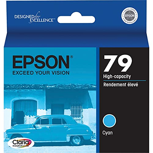EPSON T079 Claria Hi-Definition Ink Standard Capacity Cyan Cartridge (T079220) for select Epson Artisan Photo Printers