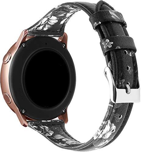 Gransho Piel Correa de Reloj Compatible con Galaxy Watch 42mm / Watch 3 41mm / Watch Active, Correa/Banda/Pulsera/Recambio/Reemplazo/Strap de Reloj (20mm, Pattern 9)