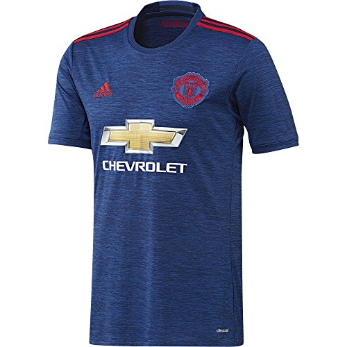 adidas Herren Fußball/Auswärts-trikot Manchester United Replica, Collegiate Royal/Real Red, L