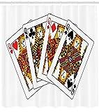不适用 Casino Duschvorhang Queens Poker Spielkarten drucken für Badezimmer
