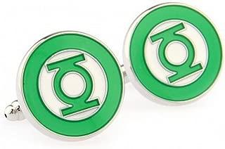BTS Men's Green Lantern Cufflinks Cuff Links Marvel Comics - YH-1538