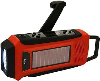GJHK Radio d'urgence Solaire Solaire Portable avec Lumière De Lecture De Lampe De Poche (17 * 8,5 * 5,5 Cm)