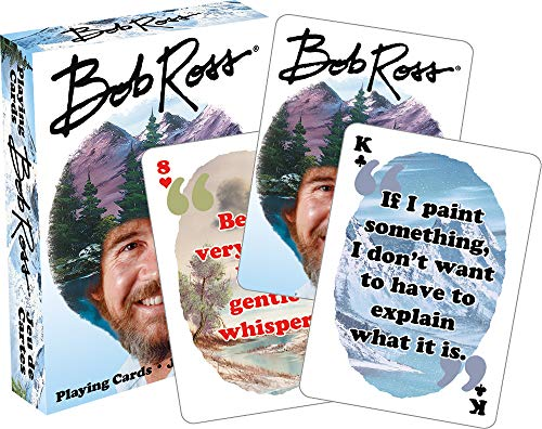 NMR DISTRIBUTION Bob Ross Quotes 2 Playing Cards | 52 Card Deck + 2 Jokers
