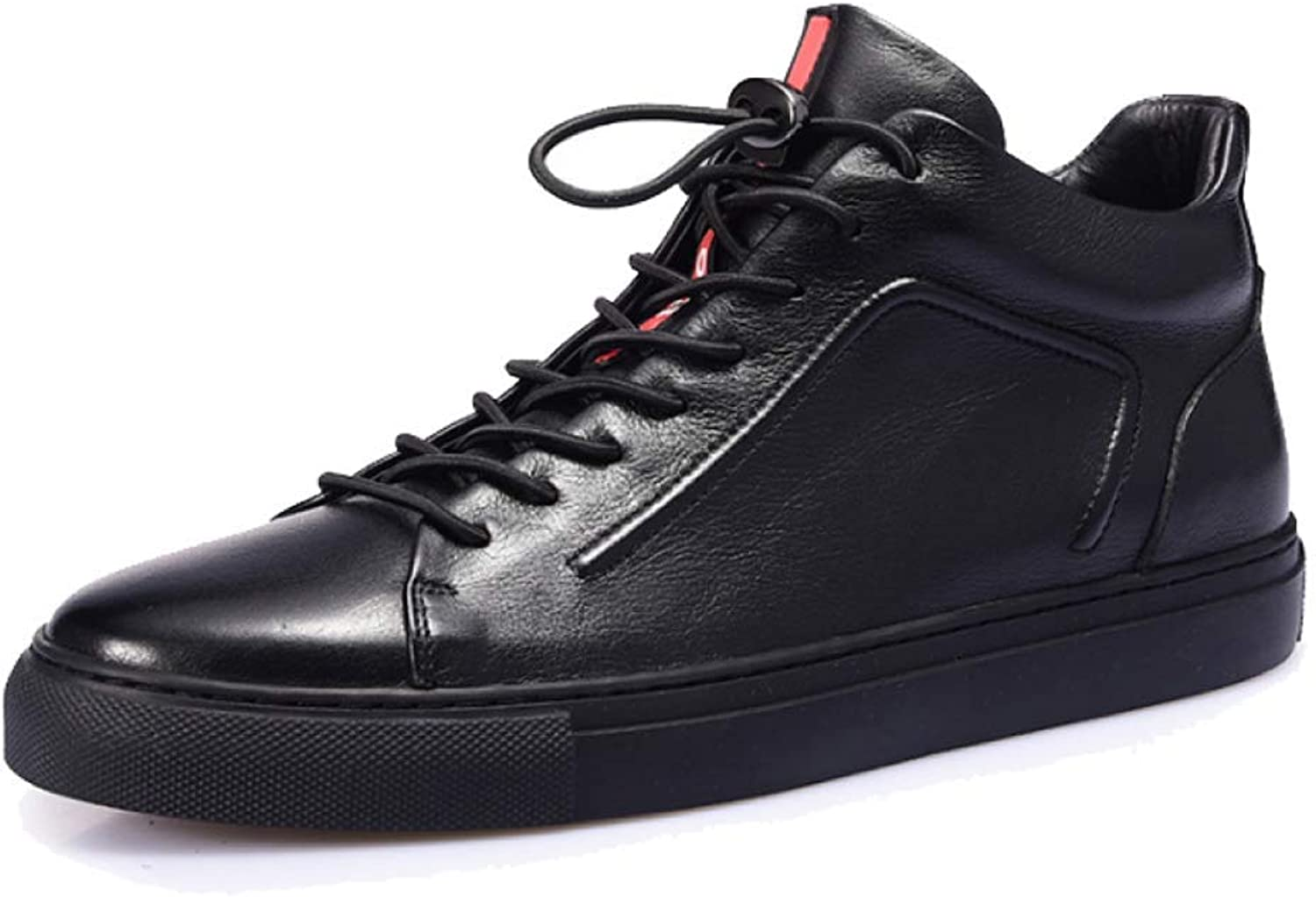HWG-GAOYZ shoes Men's Martin Ankle Boots Footwear Outdoor Non-slip Breathable Keep Warm Casual Leather Boots Autumn,Black-38