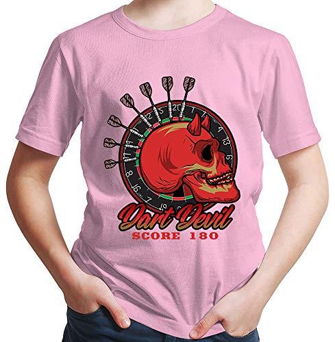 HARIZ Jungen T-Shirt Dart Devil Score 180 Dart Darten Dartpfeile WM Plus Geschenkkarte Rosa 92/1-2 Jahre