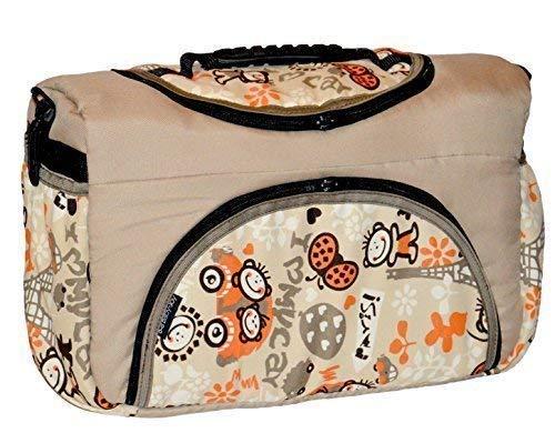 tp-52 Borsa per pannolini SHOPPER BORSA DA VIAGGIO PIA DI baby-joy XXXL taglie forti Crema Arancione COMIC Diaper Bag Borsa PULITA babytasche BORSA