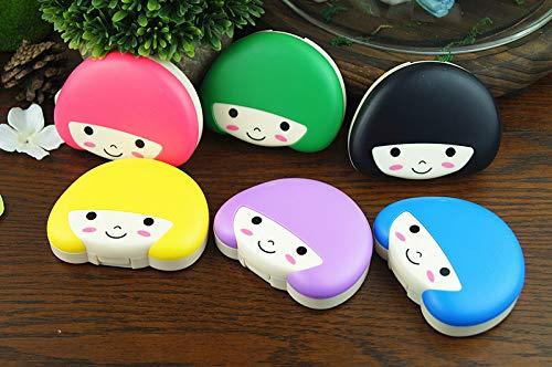 Salamii Kontaktlinsenbox in süßer Form für Mädchen, zufällige Farbe