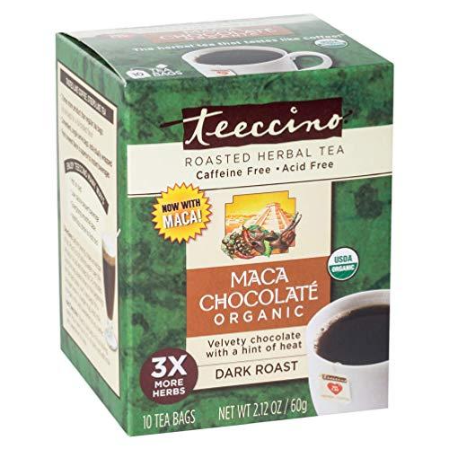 Teeccino Herbal Coffee Alternative Tee-Bag, Chocolate, 10 Count (Pack of 6)