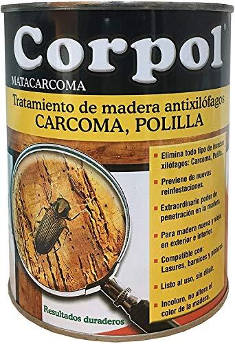 CORPOL - Protector Madera Mata Carcoma y Tratamiento Anti Polillas (Permetrina y Nafta Fracción Pesada) - 750 ml