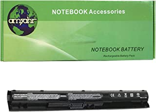Amsahr 100% Compatible Non-OEM Replacement Durable Laptop Battery for HP KI04 800049-001 Series with Rechargeable No Memory Effect and Power Surge Protection | Includes Mini Optical Mouse