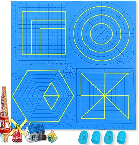 Large 3D Pen Mat 12 2 x 11 6 Inches 3D Printing Pen Mat 3D Pen Accessories with Basic Template product image