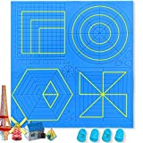 Large 3D Pen Mat 12.2 x 11.6 Inches 3D Printing Pen Mat 3D Pen Accessories with Basic Template 3D Pen Silicone Mat 3D Pen Drawing Tools with 4 Finger Protectors BENOYHO