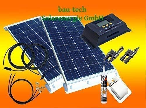 bau-tech Solarenergie 200 Watt Wohnmobil Camping Solaranlage, 12 Volt Set, PV Solarpanel Modul GmbH