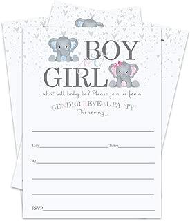 gender reveal invitations fall