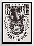 Live is a Gamble Casino Kunstdruck Poster -ungerahmt- Bild