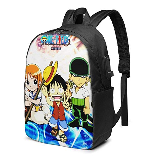 One-Piece 3D Printing Anime/Cartoon Backpack,Unisex Fashion Shoulder Rucksack Laptop Travel Bag.Student Children's Personalized School Bags, Meal Bags
