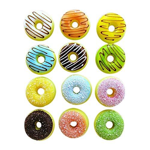 Fioerwe Calamita da frigo Simpatico Dolce Donut Donut Donut Frigorifero Messaggio Magnete Souvenirs, Simulazione Cibo per Bambini Decorazione del Titolare del Messaggio (Color : Random)