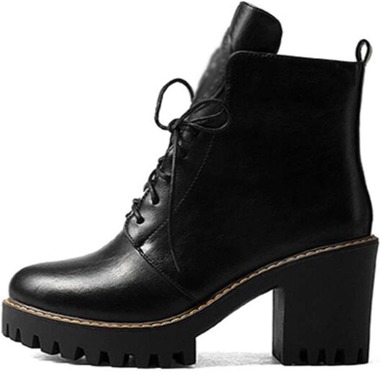 CITW Herbstliche Damenstiefel Rund Um Kopf Dick Mit Wasserdichter Plattform Reißverschluss Stiefel Großformat Stiefel,schwarz,UK4 EUR38  | Auktion