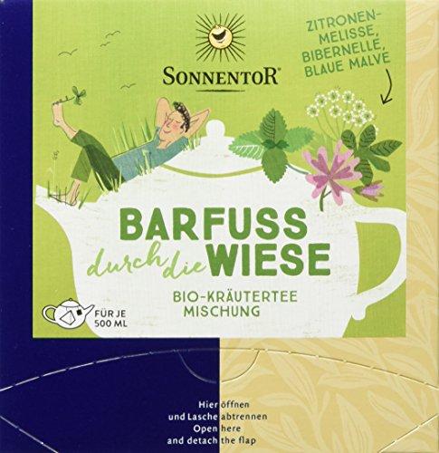 Sonnentor Barfuß durch die Wiese, Bio Kräutertee, Kannenbeutel, 2er Pack (2 x 21,6 g)
