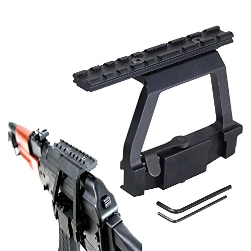 Ledsniper NEW A-k Scope Mount Tactical Heavy Duty Scope Mount Base Saiga HOT 47 A-k Heavy Duty Mount Side Rail Base for Airsoft 20mm Rail Scope Sight New