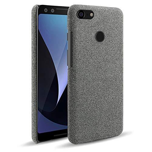 MOONCASE Capa para Pixel 3 XL, capa protetora ultrafina com textura de tecido macio antiimpressões digitais à prova de choque para Google Pixel 3 XL 6,3 polegadas (cinza escuro)