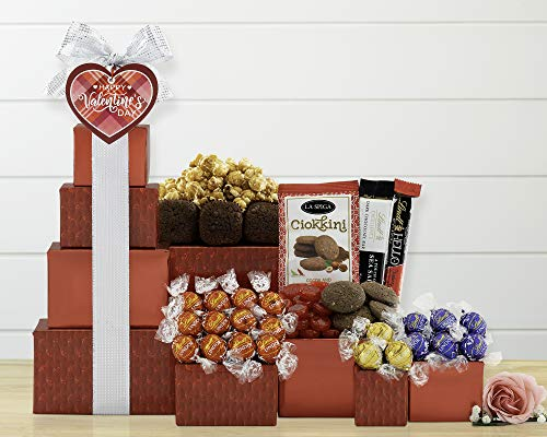 Lindt Chocolate and Sweets Gift Tower by Wine Country Gift Baskets