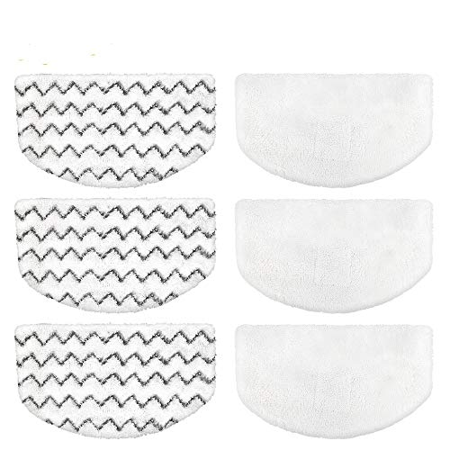 6 PCS Steam Mop Replacement Pads for Bissell Powerfresh Steam Mop Pads Compatible with 1940 1440 1544 Series 19402 19404 19408 19409 1940a 1940f 1940q 1940t 1940w