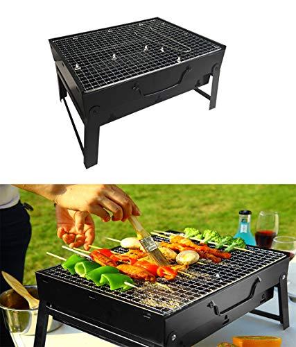 Poêle Camping, Barbecue Pliant Épaississement extérieur Portable Ménage Barbecue au Charbon Barbecue Grill Carbon