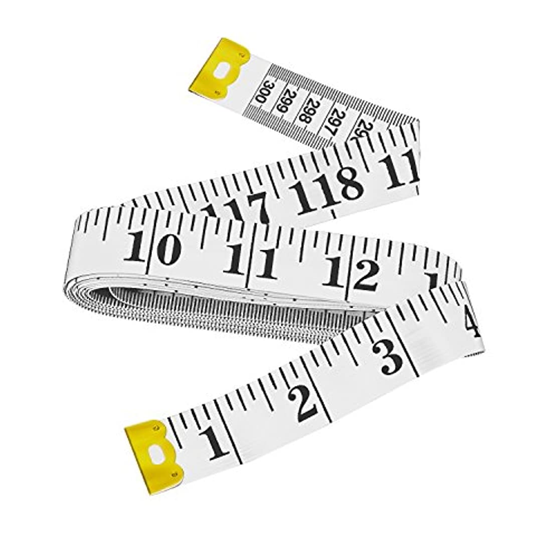 Bestty 120 inches Double Scale Soft Tape Measure Flexible Ruler for Weight Loss Medical Body Measuremen Sewing Tailor Cloth Ruler(300cm/120inch)-White