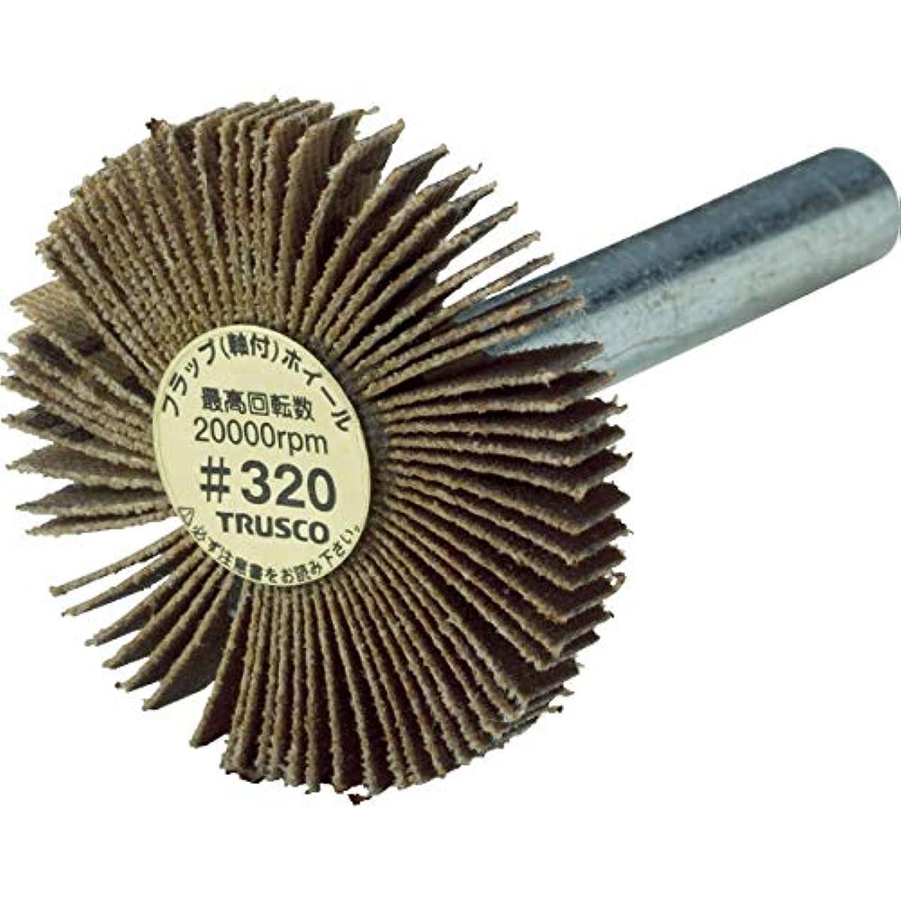 引っ張る許可する水差しTRUSCO(トラスコ) 薄型フラップホイール 30X5X6#320 5個入 UF3005320
