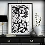 N / A Acrylic Canvas Painting Used For Living Room Bedroom Modern Decoration Painting Black and White Wall Pictures Frameless 60x90cm