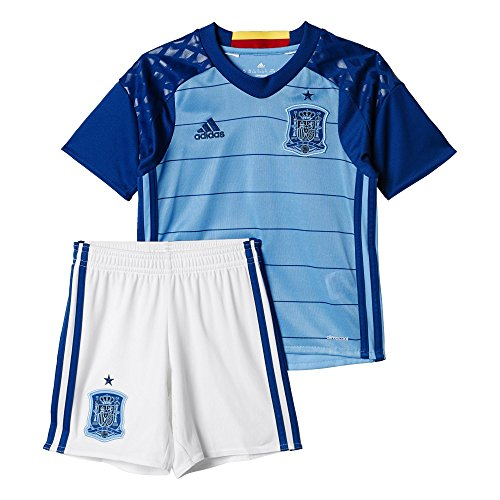 adidas Kinder Fußball/Heim-ausrüstung UEFA EURO 2016 Spanien Torwart Mini Trainingsanzug, Blau/Weiß, 164
