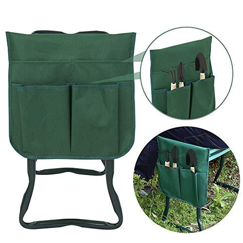 ZYJFP opvouwbare tuinstoel gereedschapstas, draagbare Kneeler doekzak met handvat Multiple Functional Storage Organizer (Forest Green)