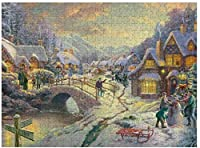 NEW JSCTWCL Snowfall_at_Sundownパズル500ピース木製アダルトジグソーパズルカラー抽象絵画パズル子供向け教育玩具ギフト