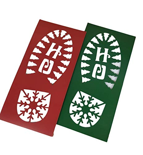 Plantillas con diseño de Papá Noel y reno