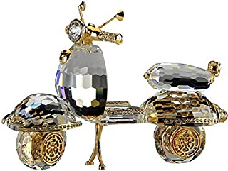 Crystal Asfour 220/55 Crystal Scooter Decor - Transparent and Gold