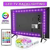 TV LED Backlights, Bason 5050 RGB Led Strip Light for 32-58 inch, 6.56ft/200cm USB TV Bias Lighting with...