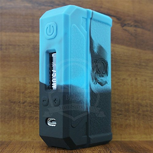 ModShield For Lost Vape THERION DNA75 & DNA133 & DNA166 Silicone Case ByJojo 75W & 133W & 166W TC DNA Skin Sleeve Cover Shield Wrap (Blue/Black)