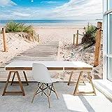 murimage Papel Pintado Mar Playa 3D 366 x 254 cm...