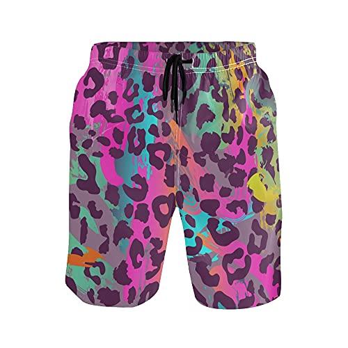 WowPrint - Pantalones cortos para hombre con estampado de animales, ligeros, de secado rápido, deportes, gimnasio, entrenamiento, verano, playa