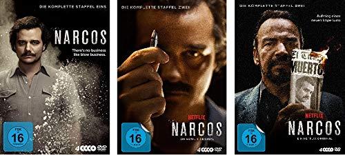 Narcos - Die komplette Staffel 1+2+3 im Set - Deutsche Originalware [12 DVDs]