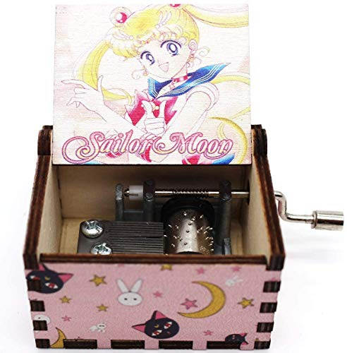 Buildinest Wooden Music Box – Sailor Moon, Gift for Birthday, BFF, Girls, Daughter, Christmas - 1 Pc(SLRM-02)
