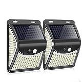 Luz solar 222 LED Luz solar Lámpara solar al aire libre con sensor de movimiento Focos de luz solar alimentados por energía...