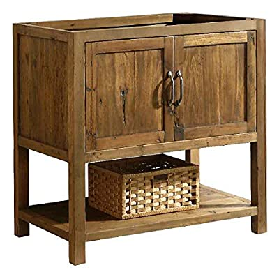 "Design Element DEC4006-A-CB Austin 36"" Farmhouse Single Sink Bathroom Vanity Base Only - Solid Reclaimed Wood Constrcution, Natural"